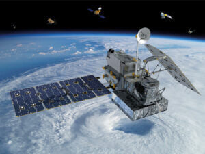 Visualization of the GPM Core Observatory and Partner Satellites