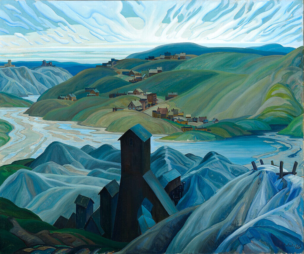 "Franklin Carmichael's ""A Northern Silver Mine"" artwork."