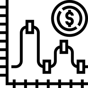 Icon for scaling up and down.